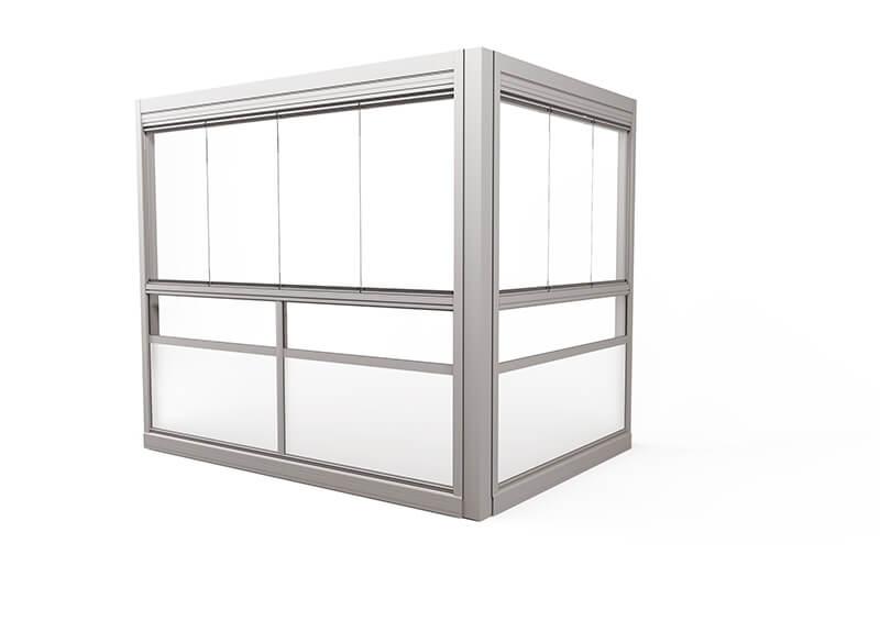 <span>Design Sight</span> Glazing system with frameless windows.