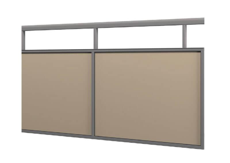 Aluminium railing – laminate