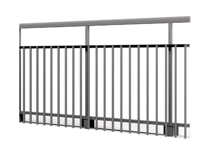 Aluminium railing – grid railing