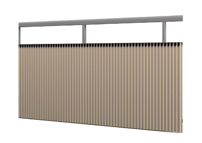 Aluminium railing – Sine corrugated