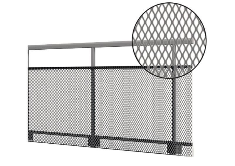 Aluminium railing – Expanded Metal