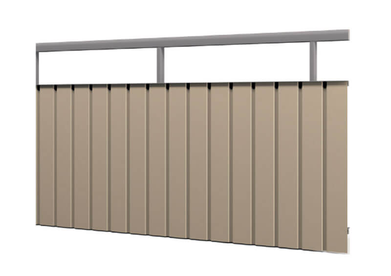 Aluminium railing – Vertical trap corrugated